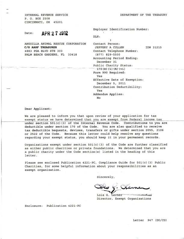 100 Section 27 Bank Confirmation Letter Reserve