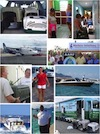Collage of our Freedom Flight airlift to the USA