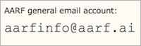 email address of aarf info account